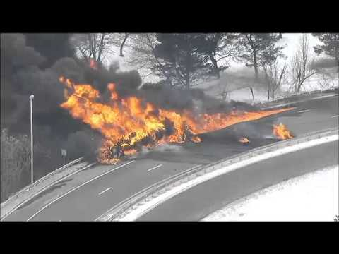 New Jersey Tanker Fire