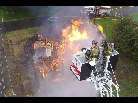 Drone Video: Lafayette (OR) House Fire