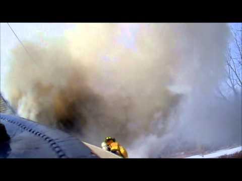 Helmet Cam: PA House Fire