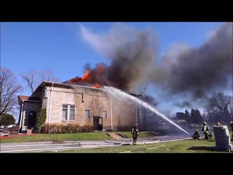 Schiller park IL Fire at Eden Memorial Park