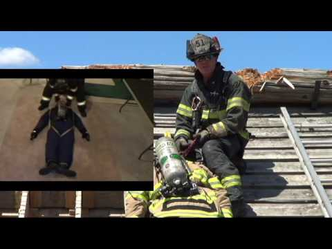 Firefighter Pitched Roof Rescue using a VRS