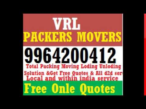 Get a free estimates for Packers and Movers Bangalore