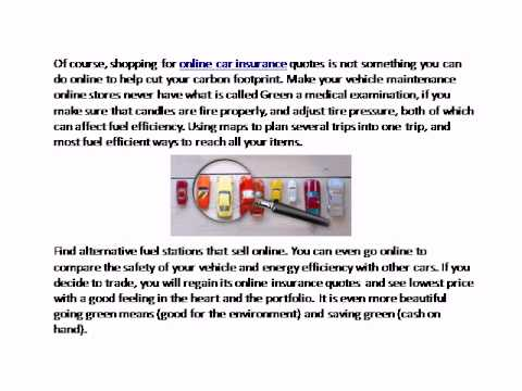Save the Planet Shopping for Auto Insurance Quotes Online