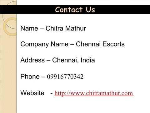 Top VIP Escorts in Chennai | Chennai Top Model Escorts