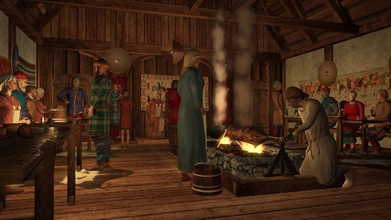 3D reconstruction of Viking Royal residence.
