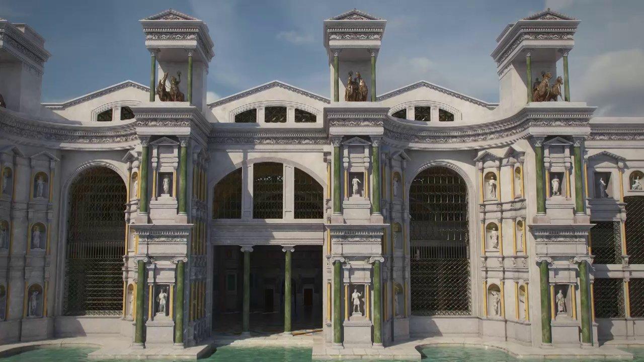 Reconstrucción virtual de las Termas de Diocleciano
