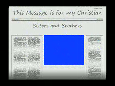 Message to my Christian Sisters and Brothers