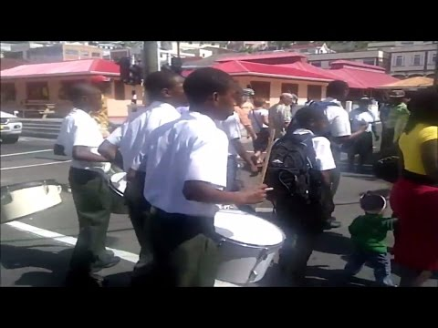 40th Independence Day mini school parade in St Georges, Grenada