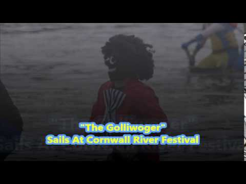 """MAN PAINTS FACE BLACK & RIDES """"THE GOLLIWOGGER"""" AT CORNWALL RIVER FESTIVAL"""