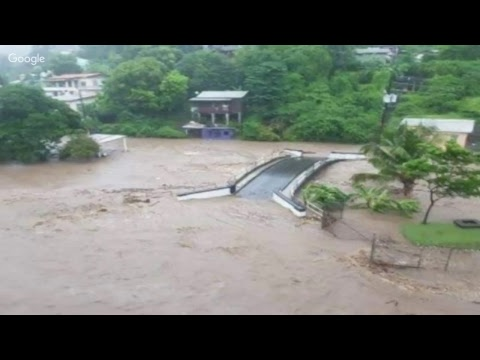 Tropical wave causes heavy flooding in Grenada! News Update live