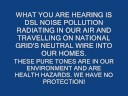 Verizon DSL noise Pollution and National Grid's Dirty Power