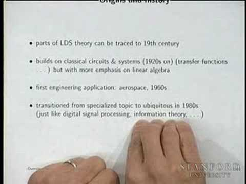 Lecture 1 | Introduction to Linear Dynamical Systems