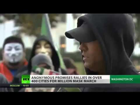Anonymous Protest - HUNDREDS march in WASHINGTON DC against OBAMA and his CORRUPT ALLIES
