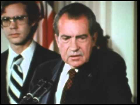Richard Nixon delivers his farewell address to Administration staffers, August 9, 1974