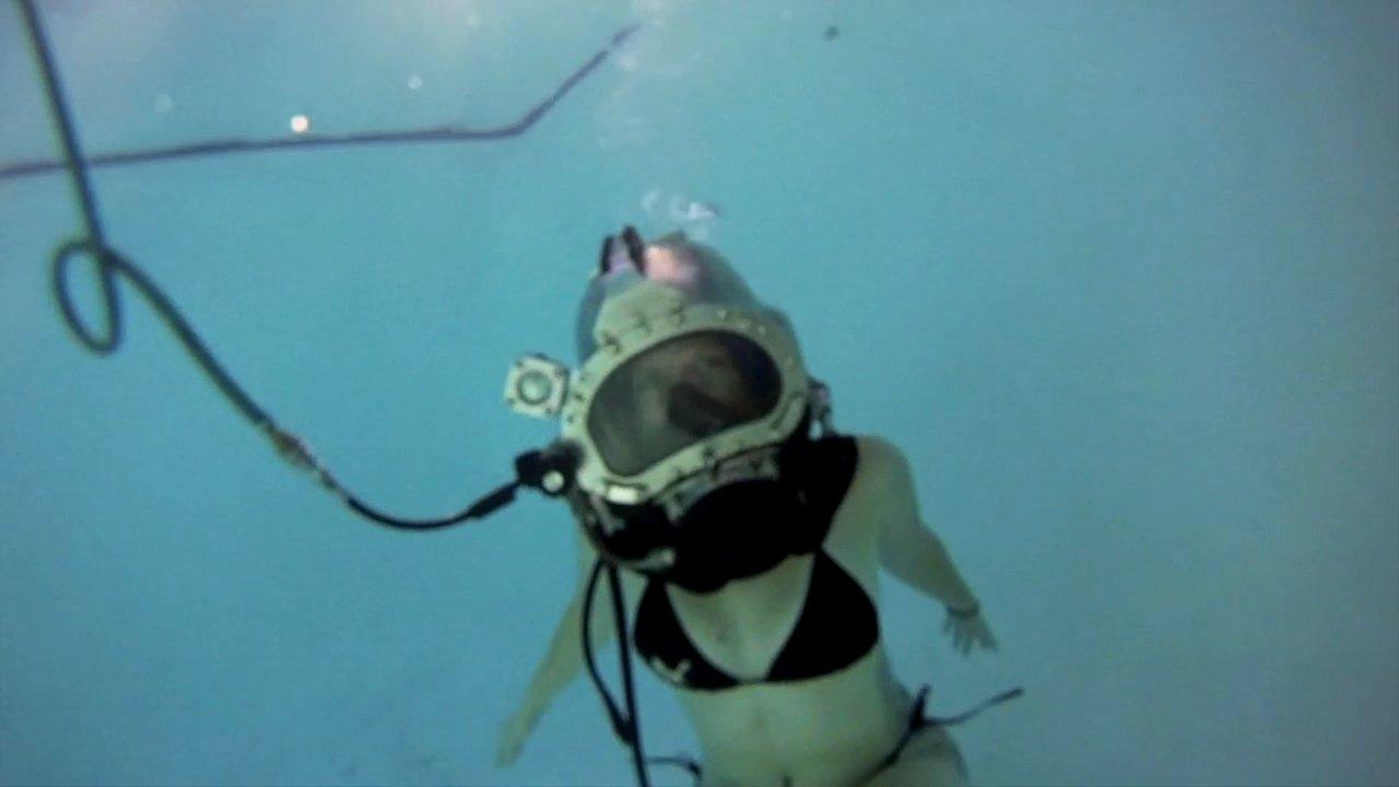 Hard Hat Diver Girl