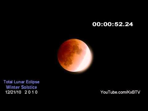 Winter Solstice - Total Lunar Eclipse 2010 - TIME-LAPSE