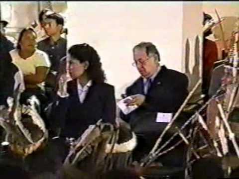 Installation Ceremony for Guaicaipuro, Caracas, Venezuela, Indigenous Leaders & President Hugo Chavez, Part 1 of 3