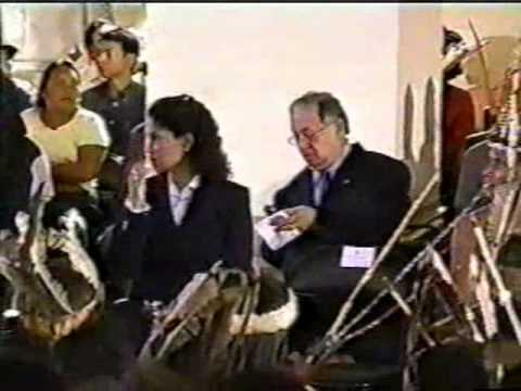 Installation Ceremony for Guaicaipuro, Caracas, Venezuela, Indigenous Leaders & President Hugo Chavez, Part 1 of 3