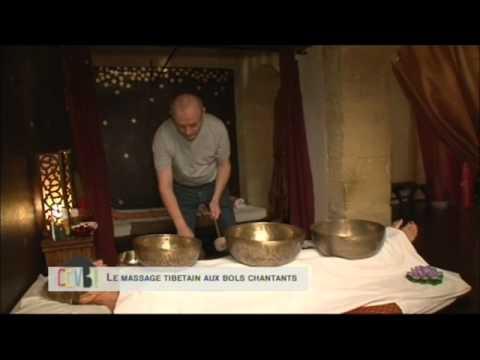 Massage sonore vibratoire aux ondes sacrées des bols tibétains de l'émission Comment Ça Va Bien
