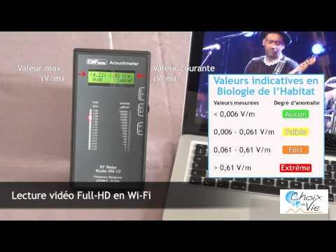 Mesures du Wifi MacBook Pro Acoustimètre Choix de Vie