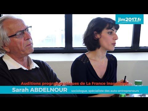Mélenchon JLM Audition programmatique #7 - Uberisation et salaire à vie - Sarah Abdelnour et Bernar…