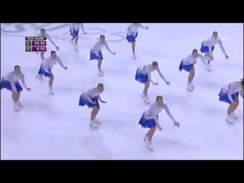Grâce, élégance et glace... avec ralenti d'images - patinage synchro Finlande