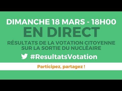 Résultats de la votation citoyenne sur le nucléaire - #ResultatsVotation