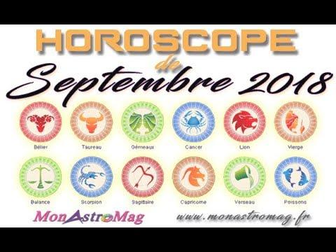 horoscope septembre 2018 MONASTROMAG