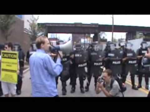 Police suppress 1st Amendment rights & use sound weapon on Americans