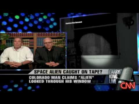 EBE, Alien on tape by Stan Romanek on Larry King Part I of II