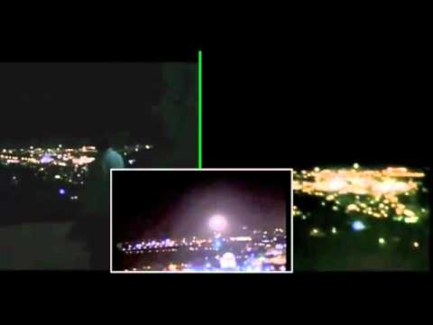 Jerusalem UFO 3 Videos Syncronized