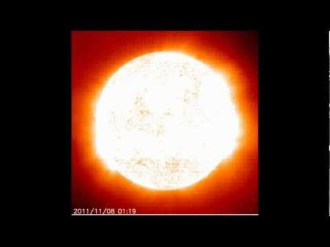 The Sun Emitting Massive Particle And An Enormous Flash!
