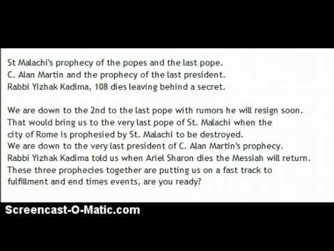 # 1085 Prophecies 3 coming true