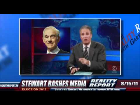 John Stewart Shows How Ron Paul Is Feared By The NWO Mafia Controlled Mainstream Media
