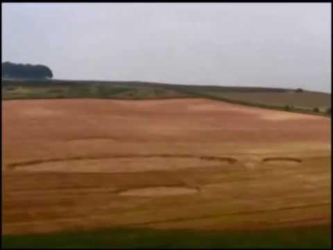 UFOs caught making crop circles