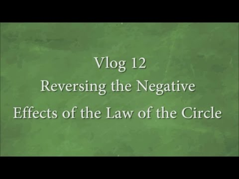 Vlog 12 - Reversing the Negative Effects of the Law of the Circle
