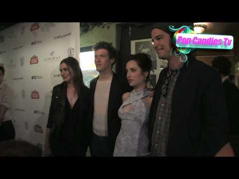 Anne Hathaway Josh Hartnett & Zoe Lister Daryl Wein at Breaking Upwards Premiere in West Hollywood