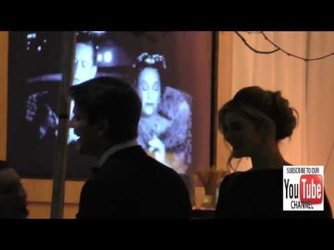 Josh Hartnett and Tamsin Egerton outside the Vanity Fair Oscar Party at Wallis Annenberg Center in B