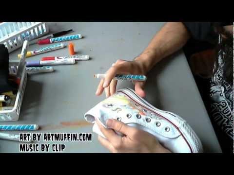 ARTmuffin vs. Clip, Hand Painted Kicks to Heavy Metal!