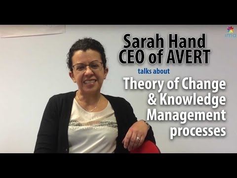 Theory of Change & Knowledge Management processes @ AVERT
