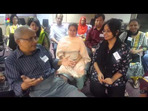 BRAC KM officers recording and sharing their KM workshop experience