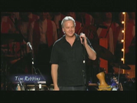 Tim Robbins introduces Pete Seeger at his 90th Birthday Bash