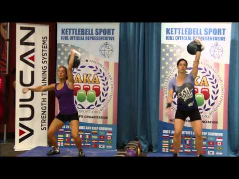 Erin Moraites, 2015 Nationals.  24 kg Snatch - 84 Repetions