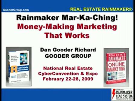 "Dan Gooder Richard - ""Rainmaker Mar-Ka-Ching!"""