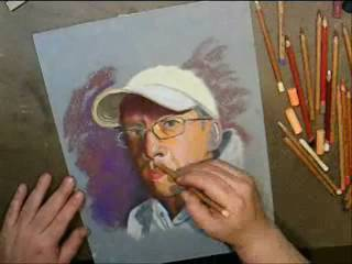 Pastel portrait on La Carte