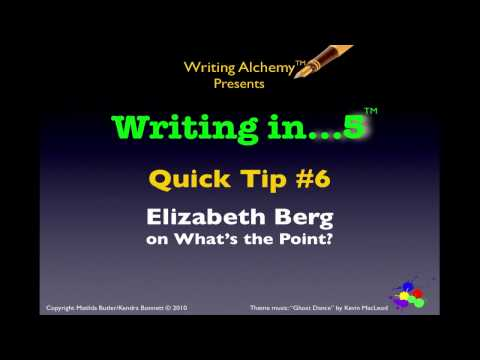 Writing Tips: Consider the Point of Your Story