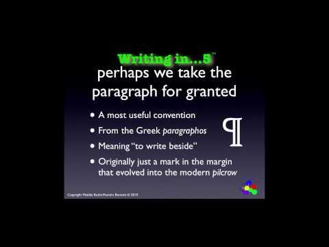 Writing Tips: Writing Paragraphs, Part 1