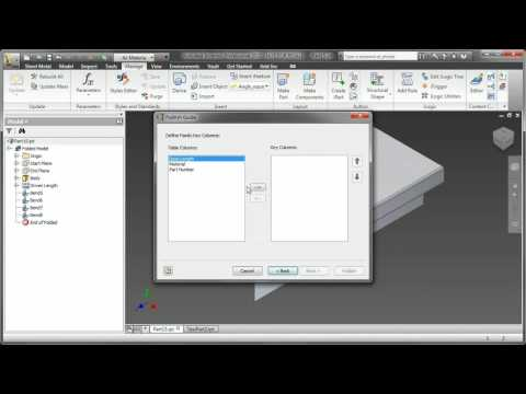Autodesk Inventor Sheet Metal Components for Frame Generator