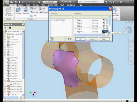 Autodesk Inventor 2010 Tutorial surface design
