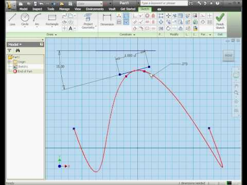 Autodesk Inventor 2010 Tutorial Spline